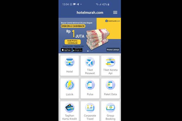 Hotelmurah.com Kasih Cashback Besar Pembayaran Listrik Pelanggan