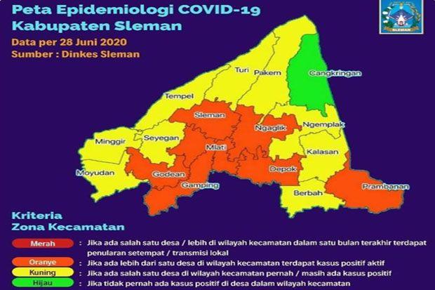 Kecamatan di Sleman Tidak Ada Zona Merah COVID-19