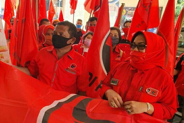 Kader PDIP Sidimpuan Datangi Polres Minta Usut Pelaku Pembakaran Bendera