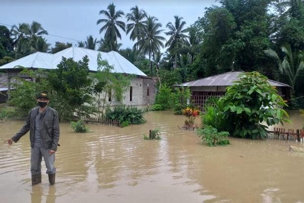 Bendungan Meluap, Sejumlah Desa di Bolaang Mongondow Terendam Banjir