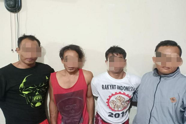 Ancam Korban dengan Parang, Komplotan Pencuri Bercadar Digelandang Polisi