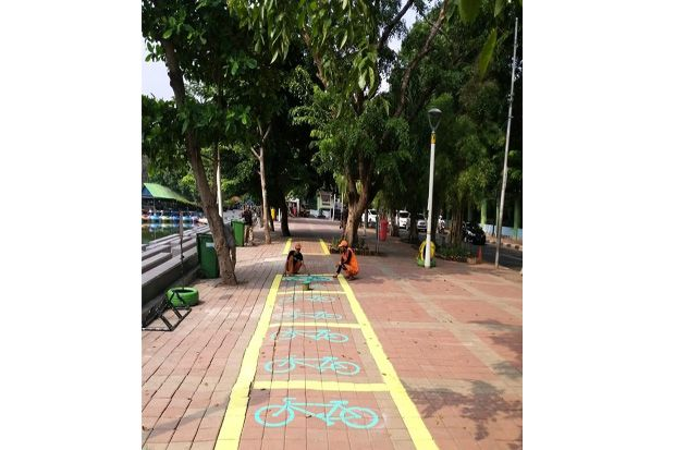 Kelurahan Sunter Jaya Siapkan Area Parkir Sepeda di Kawasan Danau Sunter
