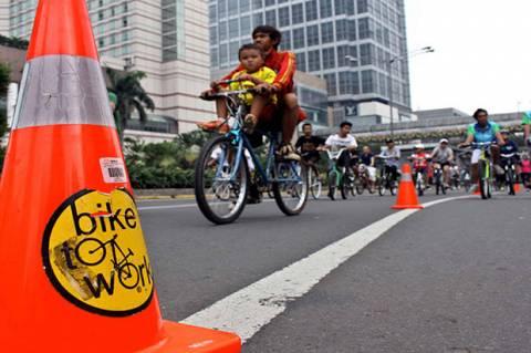 Masuk Zona Merah Covid-19, Kawasan Khusus Pesepeda di Jalan Pemuda Ditiadakan