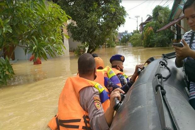 Banjir Kepung Kota Balikpapan Setelah Diguyur Hujan 6 Jam