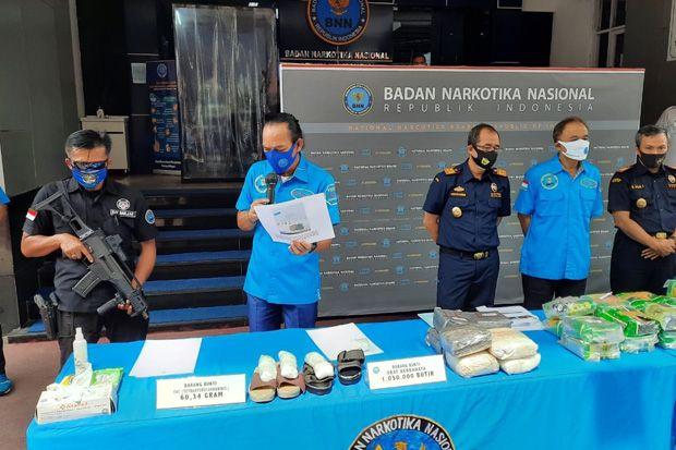 Ungkap 6 Kasus Penyelundupan Narkoba, BNN Sita 60,63 Kg Sabu dan 1 Juta Obat Keras