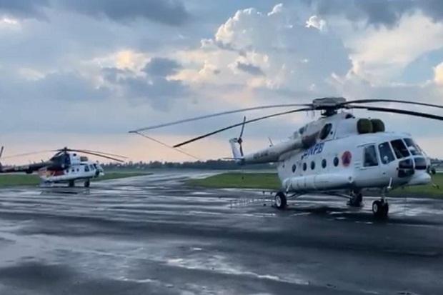 9 Heli Water Bombing asal Rusia dan Amerika Siaga Atasi Karhutla di Sumsel