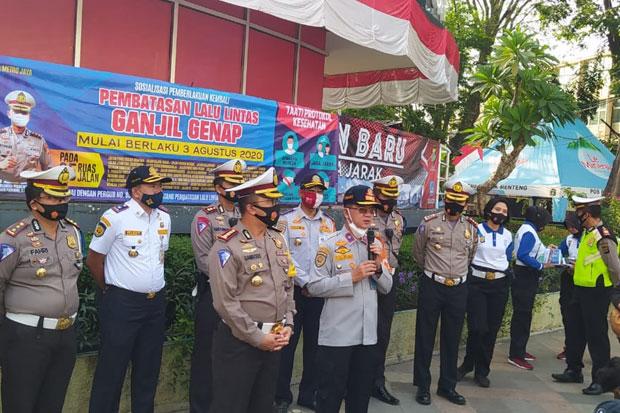 3 Hari Pemberlakukan Ganjil Genap, Polisi Belum Tilang Pelanggar