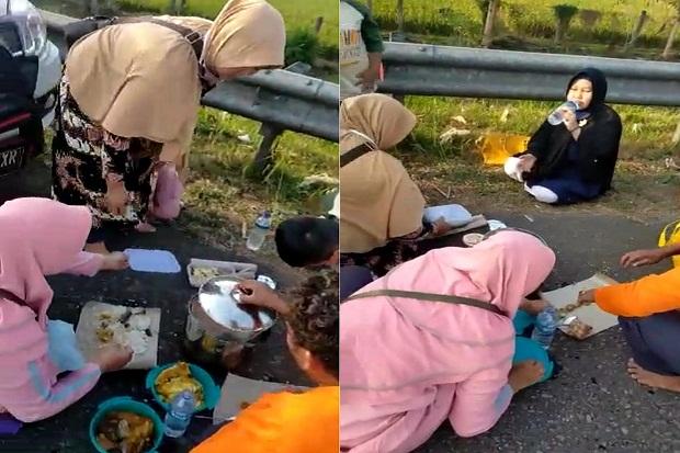 Selain di Km 189, Pemudik Makan Siang di Km 108 Tol Cipali pun Viral