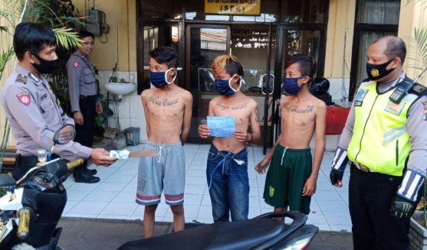 Tiga Remaja Sidoarjo Diamankan Polisi Karena Bawa Sajam