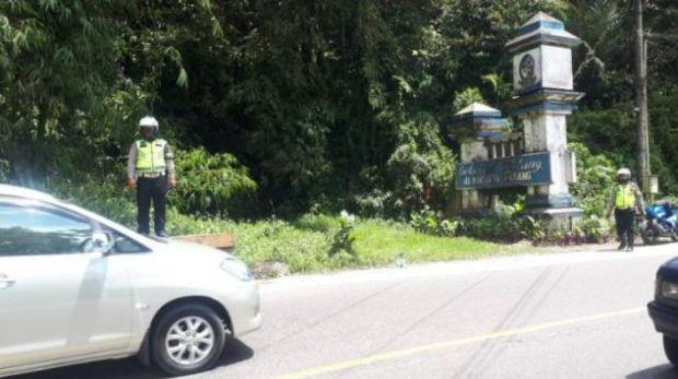 Polrestabes Medan Siaga Arus Balik di Jalan Medan-Brastagi