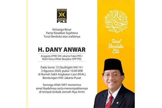 Anggota DPRD DKI Dany Anwar Meninggal di RSAL