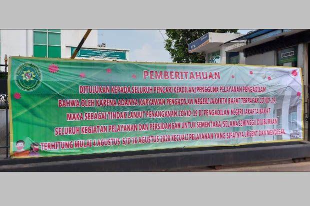 Seorang Pegawai Positif COVID 19, Pengadilan Negeri Jakarta Barat Ditutup
