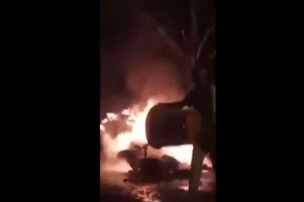 N-Max vs Mio Tabrakan di Mataram, 1 Pengendara Tewas Terbakar
