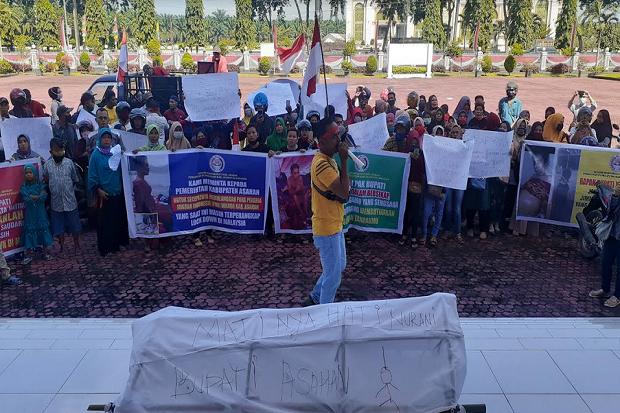 AMPPMI Tagih Janji Bupati Asahan Pulangkan TKI di Malaysia
