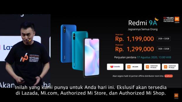 Xiaomi Rilis Redmi 9A di Indonesia, DIjual Mulai Rp1,2 jutaan