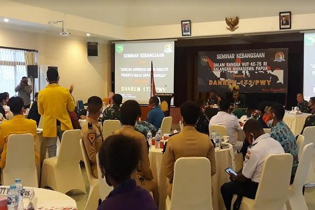 Danrem 172/PWY: Mahasiswa Papua Harus Fokus Masa Depan