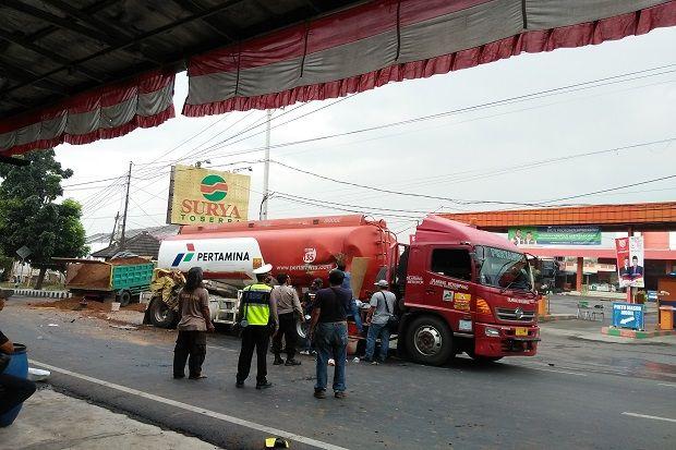 Mobil Tangki BBM Bocor Dihantam Truk, Ini Kata Kapolsek Kadipaten