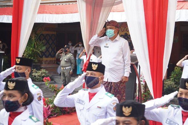 Rai Mantra Pimpin Apel Peringatan HUT ke-62 Provinsi Bali