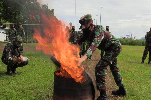 Ada Kobaran Api di Pangkalan TNI AU Sam Ratulangi Manado