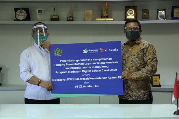 XL Axiata Dukung Program Madrasah Digital Belajar Jarak Jauh