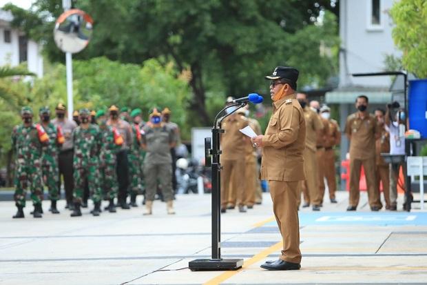 Wali Kota Aminullah Pimpin Apel Peluncuran Tim Razia Prokes