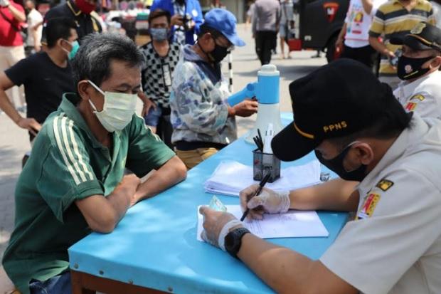 Bandel, Puluhan Pelanggar Protokol Kesehatan Terjaring di 3 Pasar