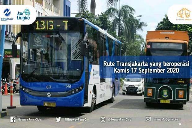 Ini Rute Transjakarta yang Beroperasi pada Kamis 17 September 2020