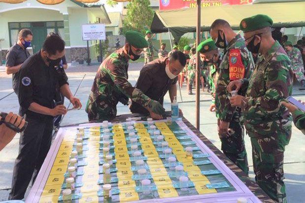 Dites Urine, 100 Anggota TNI AD Kodim 1014 Pangkalan Bun Bebas Narkoba