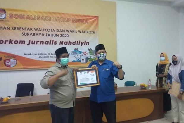 KPU Gandeng Jurnalis Nahdliyin Sosialisasikan Pilwali Surabaya