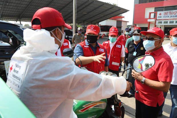 Peringati HUT ke-75, PMI Jakarta Utara Laksanakan Gerebek Disinfektan