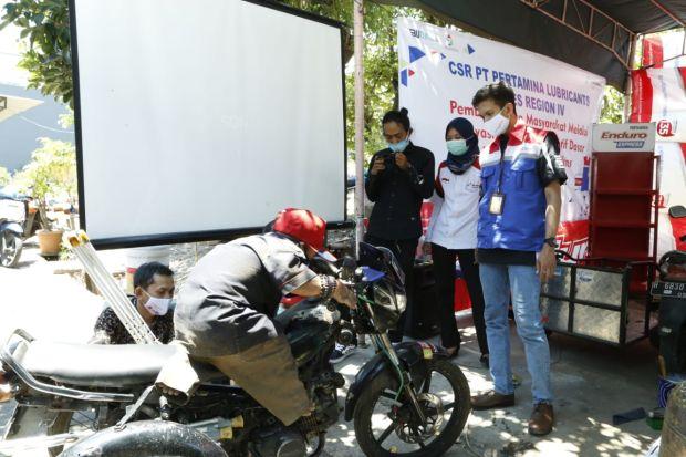 Dorong Kreativitas, Pertamina Lubricants Bantu Bengkel Difabel di Semarang