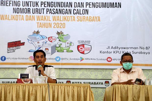 Eri-Armuji dan Machfud Arifin-Mujiaman Sah Jadi Paslon Pilwali Surabaya