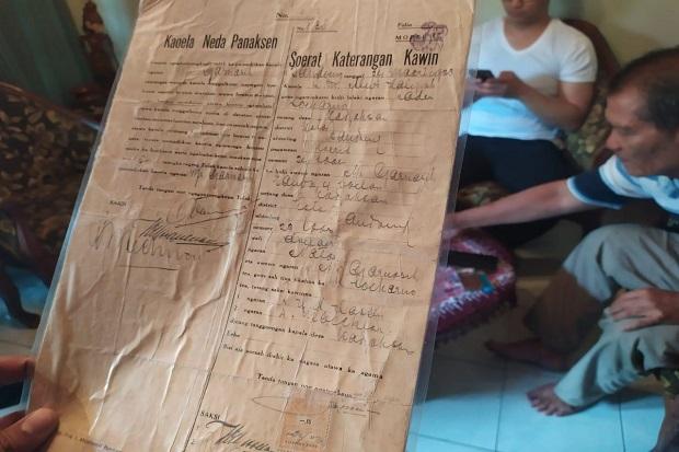 Surat Nikah-Cerai Inggit Garnasih dan Soekarno Hendak Dijual, Ini Alasannya