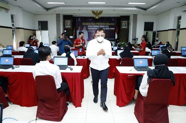 Ribuan CPNS Beradu Nasib di Kanreg II BKN Surabaya