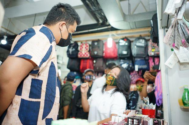 Blusukan ke Pasar Tradisional, Bobby Nasution Pasang Janji Sejahterahkan Pedagang