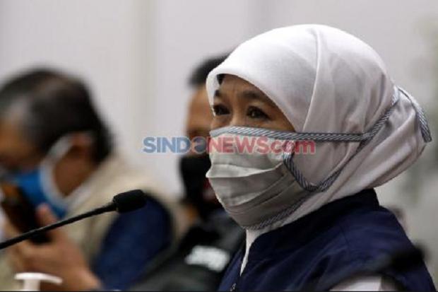 Khofifah Klaim Jatim Terendah Tingkat Penularan COVID-19 se-Indonesia