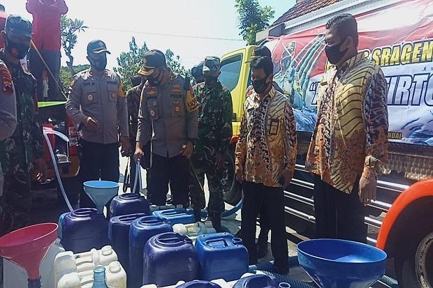 Krisis Air Bersih, Polres Sragen Bantu Warga Kecamatan Tangen