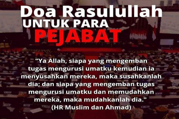 Hati-hati! Ini Doa Rasulullah untuk Para Pejabat yang Menyusahkan Umatnya