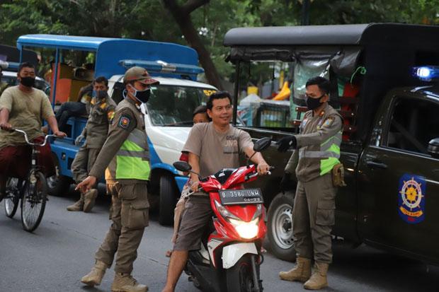 PSBB Ketat di Jakarta Utara, Satpol PP Tindak 3.904 Pelanggar