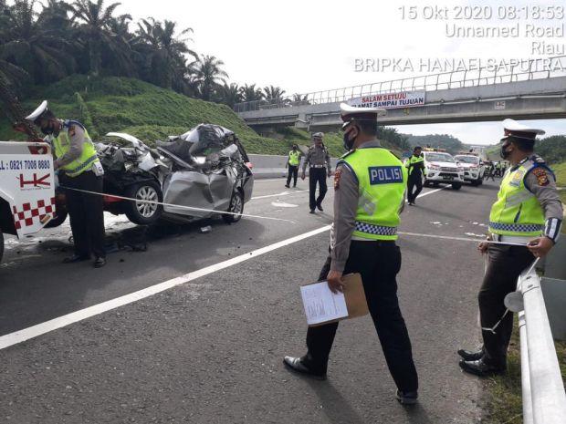 Kecelakaan di Tol Trans Sumatera Riau, Dua Orang Tewas