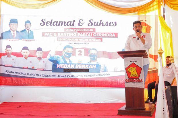 Bobby Nasution: Kader Partai Gerindra Harus Jadi Pejuang Perubahan Kota Medan