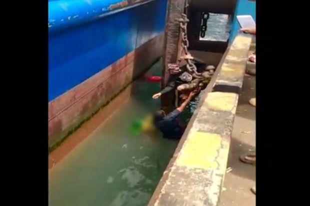 Terpeleset, Nenek Tewas Tergencet Kapal Ferry dan Tercebur ke Laut