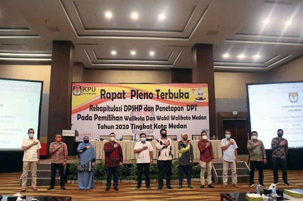 KPU Medan Tetapkan 1.601.001 DPT Pilkada Medan 2020