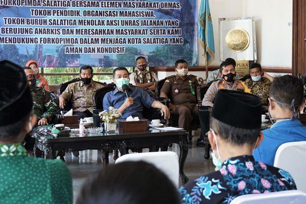 Jaga Kondusivitas Salatiga, Wali Kota Ajak Masyarakat Tolak Unjuk Rasa Anarkis