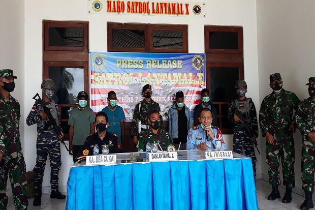 Tak Bawa Dokumen, 4 WNA Papua Nugini Ditangkap Petugas Lantamal X Jayapura