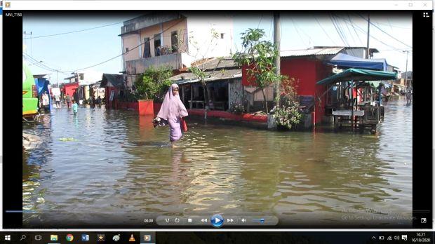 Ribuan Rumah di Medan Utara Terendam Pasang Air Laut