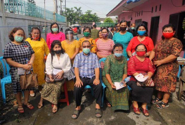 Jemaat GBKP Belawan Doakan Akhyar - Salman Pimpin Kota Medan