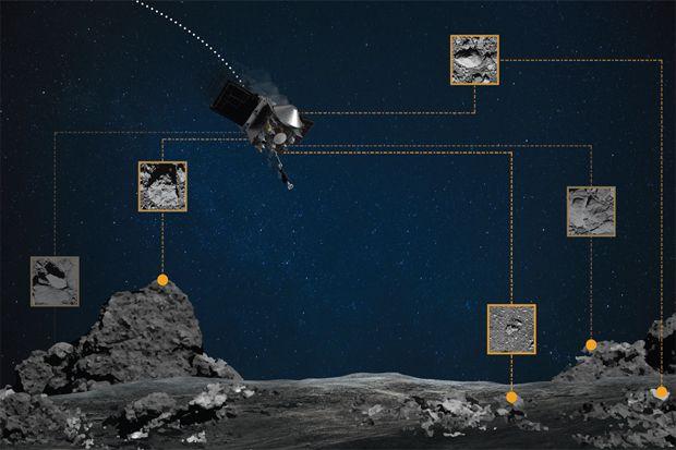 Begini Cara Pesawat NASA Mengambil Contoh Batuan Asteroid Bennu