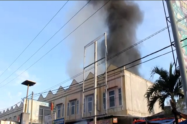 7 Ruko di Pasar Gading Rejo Pringsewu Lampung Hangus Terbakar
