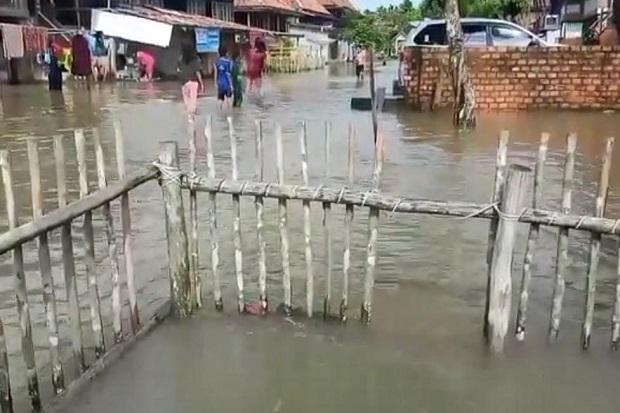 Dampak Cuaca Ekstrem, Ratusan Rumah di Muba Terkepung Banjir